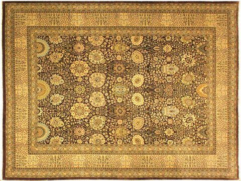 "A01295,10' 4"" X 14' 5"",Traditional                   ,10' x 14',Brown,TAN,Hand-knotted                  ,Pakistan   ,100% Wool  ,Rectangle  ,652671133985"