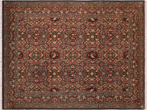 "A01316,10' 0"" X 13' 9"",Traditional                   ,10' x 14',Black,GREEN,Hand-knotted                  ,Pakistan   ,100% Wool  ,Rectangle  ,652671134197"