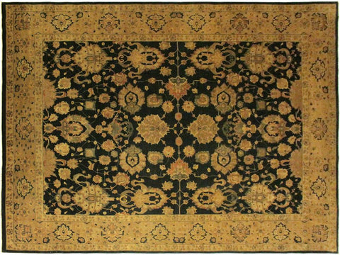 "A01318, 9'11"" X 14' 2"",Traditional                   ,10' x 14',Green,DARK GOLD,Hand-knotted                  ,Pakistan   ,100% Wool  ,Rectangle  ,652671134210"