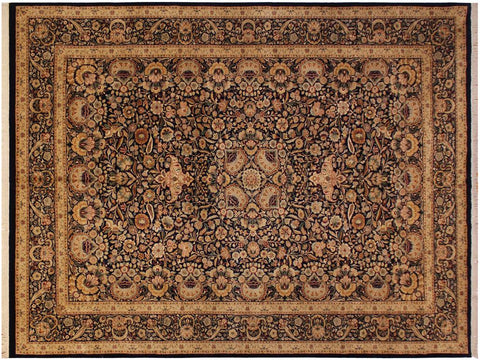"A01319,10' 0"" X 14' 3"",Traditional                   ,10' x 14',Blue,TAN,Hand-knotted                  ,Pakistan   ,100% Wool  ,Rectangle  ,652671134227"