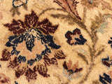 handmade Traditional Tabriz Beige Blue Hand Knotted RECTANGLE 100% WOOL area rug 9x12 Hand knotted indoor Pak Persian vegetable dyed area rug made for all rooms with high quality New Zealand wool in rich color pallet weaved by skilled artisans in traditional transitional design known for quality and affordable price. Oriental rug offered at cheap discount for any decor, with Persian weave(KPSI upto 300)