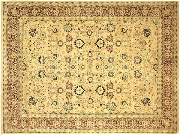 "A01355, 9' 0"" X 12' 0"",Traditional                   ,9' x 12',Tan,AUBERGINE,Hand-knotted                  ,Pakistan   ,100% Wool  ,Rectangle  ,652671134562"