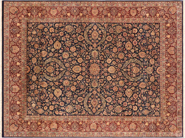 "A01356, 9' 2"" X 12' 3"",Traditional                   ,9' x 12',Blue,AUBERGINE,Hand-knotted                  ,Pakistan   ,100% Wool  ,Rectangle  ,652671134579"