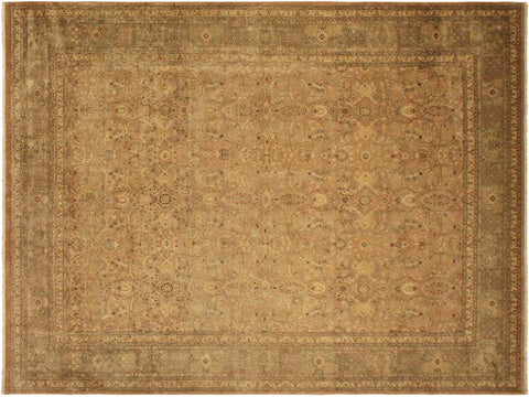 "A01364, 9' 2"" X 12' 6"",Transitional                  ,9' x 12',Taupe,LT. GREEN,Hand-knotted                  ,Pakistan   ,100% Wool  ,Rectangle  ,652671134654"