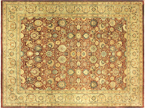 "A01375, 9' 1"" X 11' 8"",Traditional                   ,9' x 12',Purple,LT. GREEN,Hand-knotted                  ,Pakistan   ,100% Wool  ,Rectangle  ,652671134760"