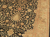 "A01381, 9' 1"" X 12' 5"",Traditional                   ,9' x 12',Blue,TAN,Hand-knotted                  ,Pakistan   ,100% Wool  ,Rectangle  ,652671134814"