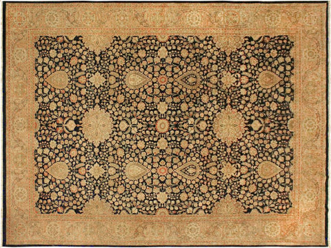 handmade Traditional Sultanabad Blue Tan Hand Knotted RECTANGLE 100% WOOL area rug 9x12 Hand knotted indoor Pak Persian vegetable dyed area rug made for all rooms with high quality New Zealand wool in rich color pallet weaved by skilled artisans in traditional transitional design known for quality and affordable price. Oriental rug offered at cheap discount for any decor, with Persian weave(KPSI upto 300)