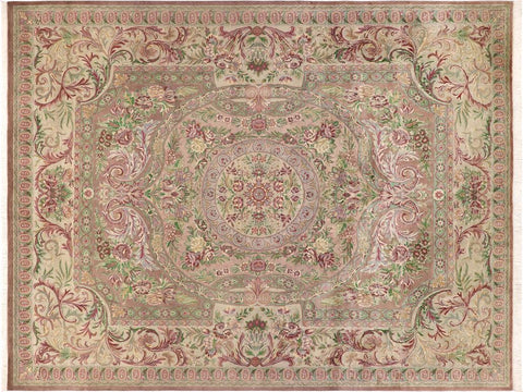 "A01392, 9' 1"" X 12' 4"",Traditional                   ,9' x 12',Brown,LT. GRAY,Hand-knotted                  ,Pakistan   ,100% Wool  ,Rectangle  ,652671134920"