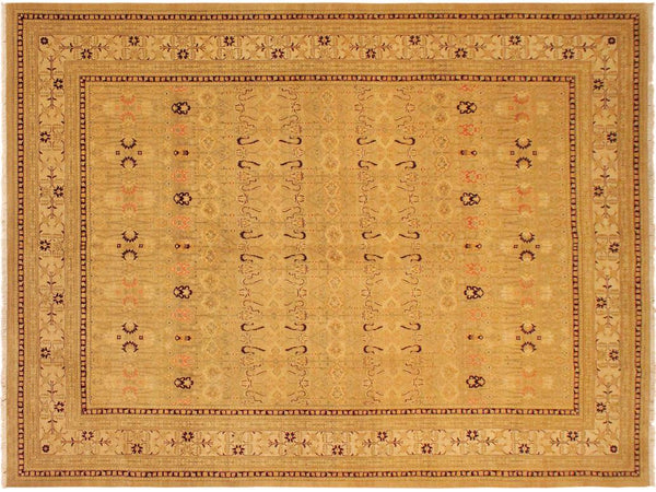 "A01394, 9' 0"" X 12' 3"",Traditional                   ,9' x 12',Tan,GOLD,Hand-knotted                  ,Pakistan   ,100% Wool  ,Rectangle  ,652671134944"