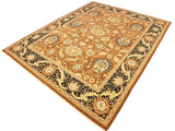 "A01395, 9' 4"" X 11' 7"",Traditional                   ,9' x 12',Orange,BLACK,Hand-knotted                  ,Pakistan   ,100% Wool  ,Rectangle  ,652671134951"