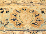handmade Transitional Tabriz Brown Blue Hand Knotted RECTANGLE 100% WOOL area rug 9x12 Hand knotted indoor Pak Persian vegetable dyed area rug made for all rooms with high quality New Zealand wool in rich color pallet weaved by skilled artisans in traditional transitional design known for quality and affordable price. Oriental rug offered at cheap discount for any decor, with Persian weave(KPSI upto 300)
