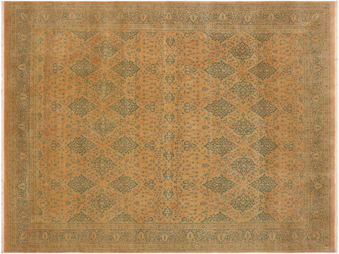 "A01405, 9' 0"" X 11' 6"",Traditional                   ,9' x 12',Pink,GREEN,Hand-knotted                  ,Pakistan   ,100% Wool  ,Rectangle  ,652671135057"