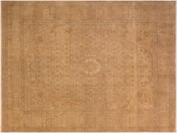 "A01406, 9' 2"" X 12' 2"",Traditional                   ,9' x 12',Tan,TAN,Hand-knotted                  ,Pakistan   ,100% Wool  ,Rectangle  ,652671135064"