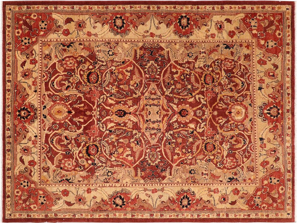 "A01421, 8' 1"" X  9' 6"",Traditional                   ,8' x 10',Brown,LT. TAN,Hand-knotted                  ,Pakistan   ,100% Wool  ,Rectangle  ,652671135217"