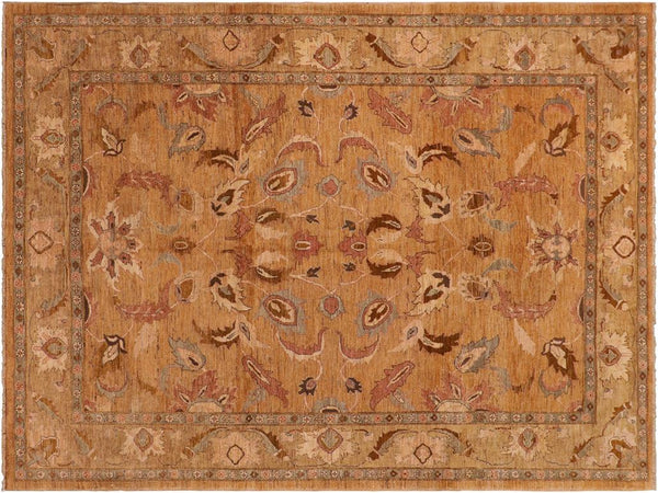 "A01426, 8' 0"" X 10' 0"",Traditional                   ,8' x 10',Tan,LT. GOLD,Hand-knotted                  ,Pakistan   ,100% Wool  ,Rectangle  ,652671135262"