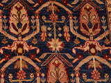 "A01436, 8 4"" X 10 1"",Transitional                  ,8x10,Blue,RED,Hand-knotted                  ,Pakistan   ,100% Wool  ,Rectangle  ,652671135361"