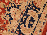 "A01437, 8 1"" X  9 8"",Transitional                  ,8x10,Rust,BLUE,Hand-knotted                  ,Pakistan   ,100% Wool  ,Rectangle  ,652671135378"