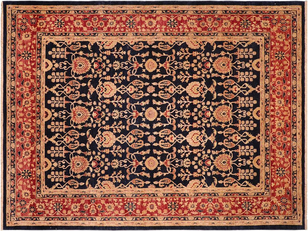 "A01439, 8' 4"" X 10' 0"",Transitional                  ,8' x 10',Blue,RED,Hand-knotted                  ,Pakistan   ,100% Wool  ,Rectangle  ,652671135392"