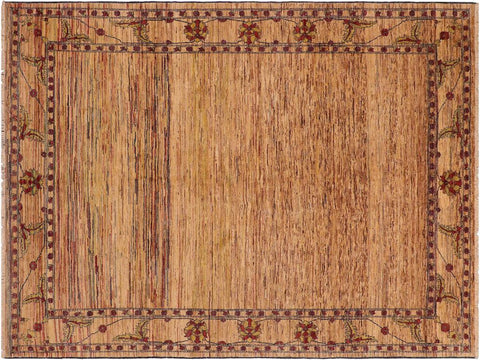 "A01440, 8' 6"" X  9'10"",Modern                        ,8' x 10',Tan,BLUE,Hand-knotted                  ,Pakistan   ,100% Wool  ,Rectangle  ,652671135408"