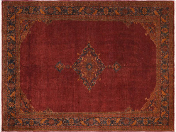 "A01451, 8' 1"" X 10'10"",Traditional                   ,8' x 10',Burgundy,DRK. BLUE,Hand-knotted                  ,Pakistan   ,100% Wool  ,Rectangle  ,652671135507"