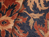 "A01454, 8' 0"" X  9'10"",Traditional                   ,8' x 10',Blue,RUST,Hand-knotted                  ,Pakistan   ,100% Wool  ,Rectangle  ,652671135538"