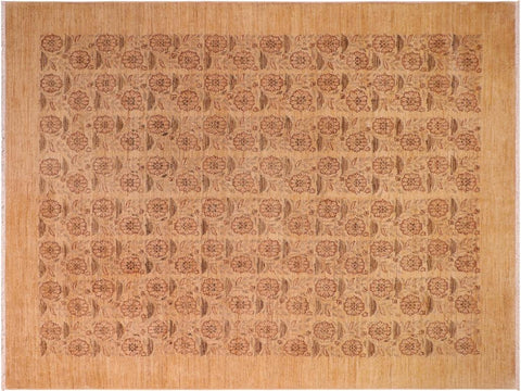 "A01455, 8' 1"" X 10' 0"",Modern                        ,8' x 10',Tan,GOLD,Hand-knotted                  ,Pakistan   ,100% Wool  ,Rectangle  ,652671135545"