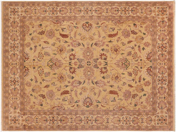 "A01456, 8'11"" X 12' 4"",Traditional                   ,8' x 10',Gold,IVORY,Hand-knotted                  ,Pakistan   ,100% Wool  ,Rectangle  ,652671135552"