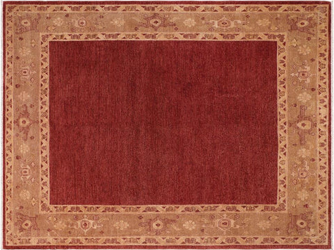 "A01463, 8' 3"" X  9' 5"",Modern                        ,8' x 10',Red,LT. GREEN,Hand-knotted                  ,Pakistan   ,100% Wool  ,Rectangle  ,652671135620"