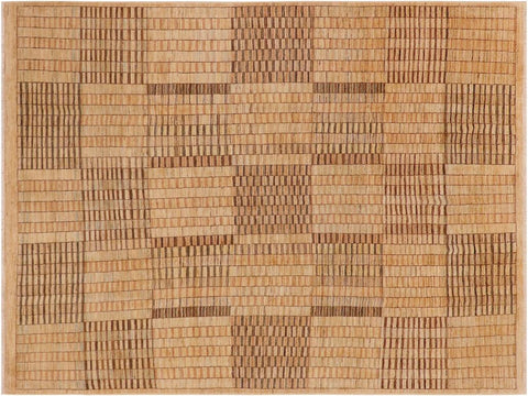 handmade Modern Gabbeh Tan Brown Hand Knotted RECTANGLE 100% WOOL area rug 8 x 10
