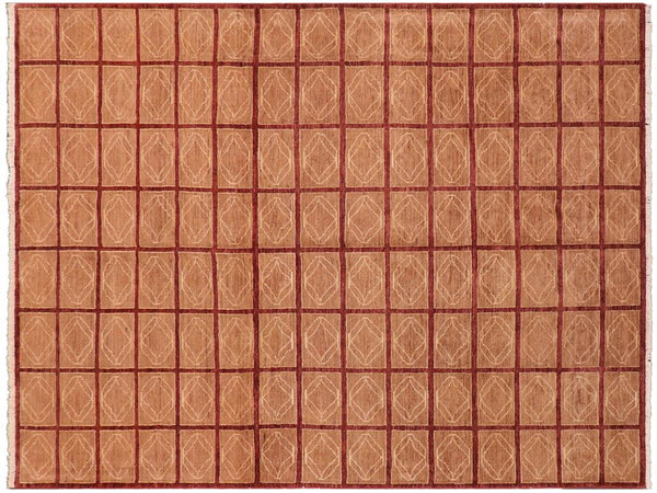 "A01471, 8' 0"" X  9' 4"",Modern                        ,8' x 10',Purple,LT. BROWN,Hand-knotted                  ,Pakistan   ,100% Wool  ,Rectangle  ,652671135705"