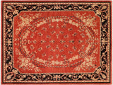 "A01473, 8' 1"" X  9'10"",Traditional                   ,8' x 10',Rust,BLACK,Hand-knotted                  ,Pakistan   ,100% Wool  ,Rectangle  ,652671135729"