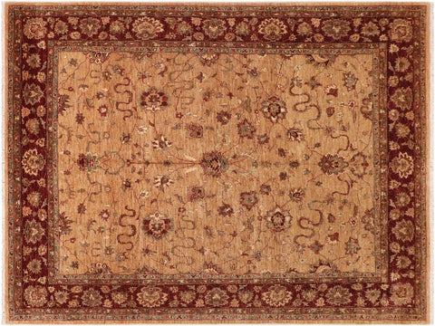 "A01480, 8' 0"" X 10' 2"",Traditional                   ,8' x 10',Tan,DRK. RED,Hand-knotted                  ,Pakistan   ,100% Wool  ,Rectangle  ,652671135798"