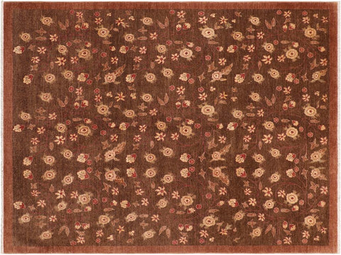 "A01496, 8' 0"" X  9' 9"",Transitional                  ,8' x 10',Brown,TAN,Hand-knotted                  ,Pakistan   ,100% Wool  ,Rectangle  ,652671135958"