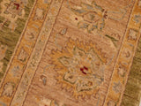 "A01505, 8 1"" X  9 8"",Transitional                  ,8x10,Green,TAN,Hand-knotted                  ,Pakistan   ,100% Wool  ,Rectangle  ,652671136047"