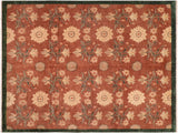 "A01515, 7' 8"" X  8' 8"",Transitional                  ,8' x 10',Brown,GREEN,Hand-knotted                  ,Pakistan   ,100% Wool  ,Rectangle  ,652671136146"