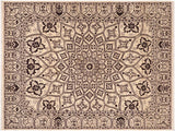 "A01521, 8' 1"" X 10' 2"",Traditional                   ,8' x 10',Black,IVORY,Hand-knotted                  ,Pakistan   ,100% Wool  ,Rectangle  ,652671136207"