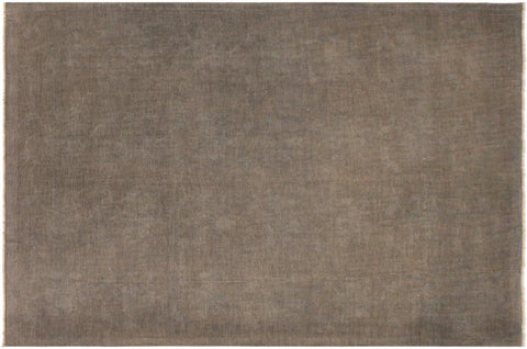 handmade Over Dyed Grayish Blu Gray Hand Knotted RECTANGLE 100% WOOL area rug 9x12