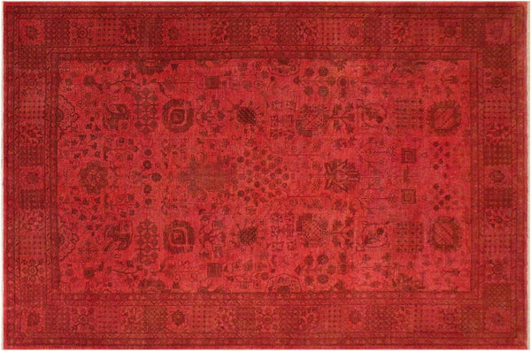 "A01539, 9' 1"" X 11' 9"",Over Dyed                     ,9' x 12',Pink,LT. BROWN,Hand-knotted                  ,Pakistan   ,100% Wool  ,Rectangle  ,652671136382"