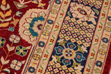 "A01543, 9' 4"" X 12' 6"",Transitional                  ,9' x 12',Red,BLUE,Hand-knotted                  ,Pakistan   ,100% Wool  ,Rectangle  ,652671136429"
