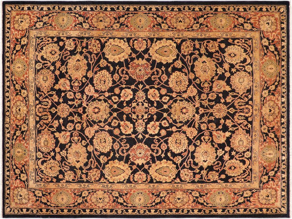 "A01561  8' 5"" X 10' 6"" Traditional 8x10 BLUE RUST Hand Knotted                   Pakistan    100% Wool   Rectangle"