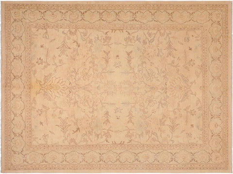 handmade Traditional Kafkaz Tan Brown Hand Knotted RECTANGLE 100% WOOL area rug 8 x 11