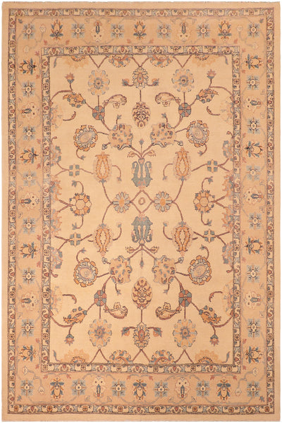 "A01573, 8' 0"" X 10' 2"",Traditional,8' x 10',Natural,TAN,Hand-knotted                  ,Pakistan   ,100% Wool  ,Rectangle  ,652671136702"