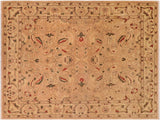 "A01575  7'10"" X 10' 4"" Traditional 8x10 TAN TAN Hand Knotted                   Pakistan    100% Wool   Rectangle"