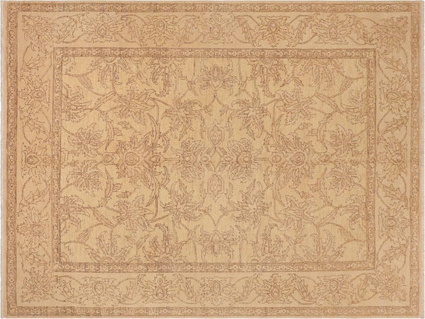 "A01583, 7'11"" X  9'11"",Traditional,8' x 10',Tan,LT. TAN,Hand-knotted                  ,Pakistan   ,100% Wool  ,Rectangle  ,652671136801"
