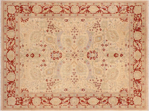 "A01585, 8' 1"" X 10' 3"",Traditional,8' x 10',Tan,RUST,Hand-knotted                  ,Pakistan   ,100% Wool  ,Rectangle  ,652671136825"