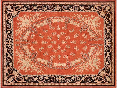 "A01589, 8' 0"" X 10' 0"",Modern     ,8' x 10',Rust,BLACK,Hand-knotted                  ,Pakistan   ,100% Wool  ,Rectangle  ,652671136863"