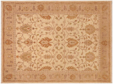 "A01590  8' 0"" X 10' 0"" Traditional 8x10 IVORY TAN Hand Knotted                   Pakistan    100% Wool   Rectangle"