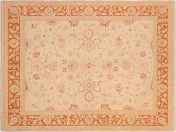 "A01592, 8' 1"" X  9'11"",Traditional,8' x 10',Natural,RUST,Hand-knotted                  ,Pakistan   ,100% Wool  ,Rectangle  ,652671136887"
