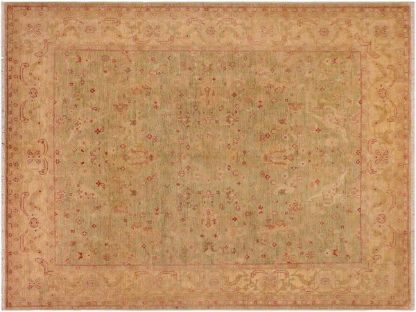 "A01593, 8' 2"" X  9' 9"",Traditional                   ,8' x 10',Green,TAN,Hand-knotted                  ,Pakistan   ,100% Wool  ,Rectangle  ,652671136894"
