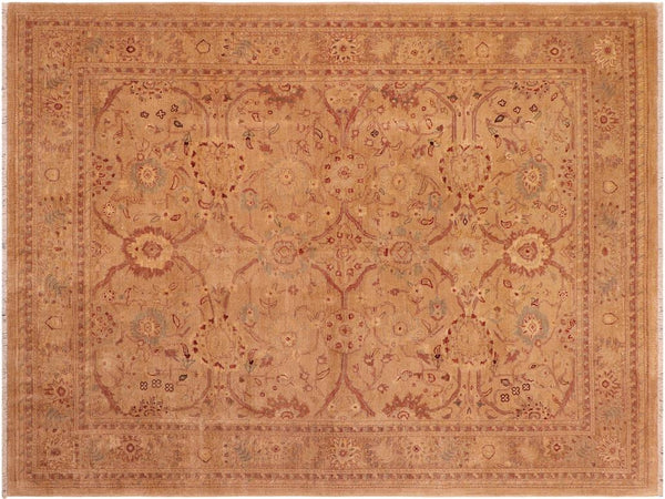"A01595, 7' 8"" X  9' 4"",Traditional,8' x 10',Camel,DARK TAN,Hand-knotted                  ,Pakistan   ,100% Wool  ,Rectangle  ,652671136917"
